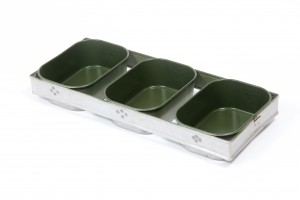 bread pans-0088-400g set of 3-olive green