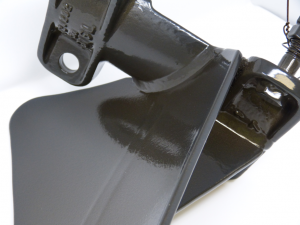 head blade with chemically resistant coating